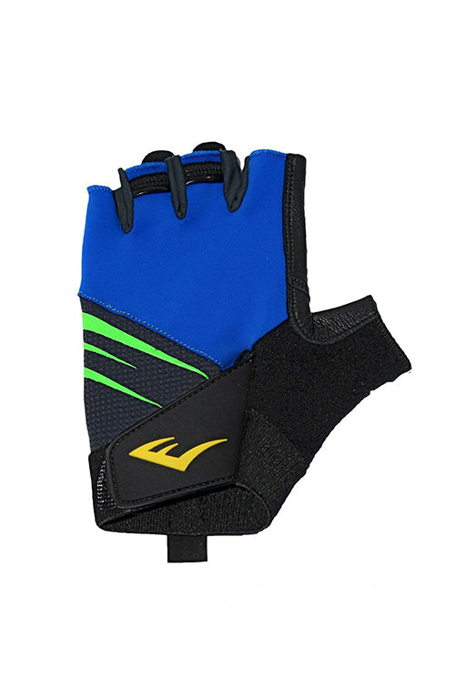 EVERLAST BLITZ WEIGHT TRAINING GLOVES WITH FREE RUSSELL ATHLETIC 1L WATER BOTTLE <br> 140969BLUE,- Jim Kidd Sports