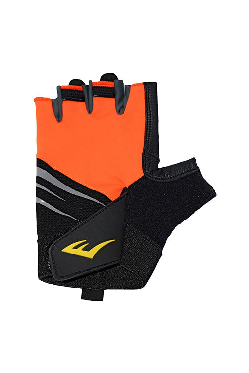 EVERLAST BLITZ WEIGHT TRAINING GLOVES WITH FREE RUSSELL ATHLETIC 1L WATER BOTTLE <br> 140969ORANGE,- Jim Kidd Sports