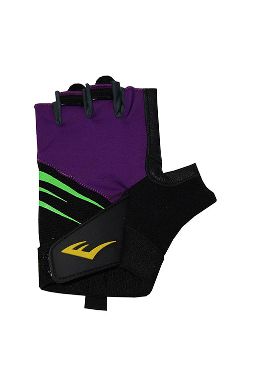 EVERLAST BLITZ WEIGHT TRAINING GLOVES WITH FREE RUSSELL ATHLETIC 1L WATER BOTTLE <br> 140969PURPLE,- Jim Kidd Sports