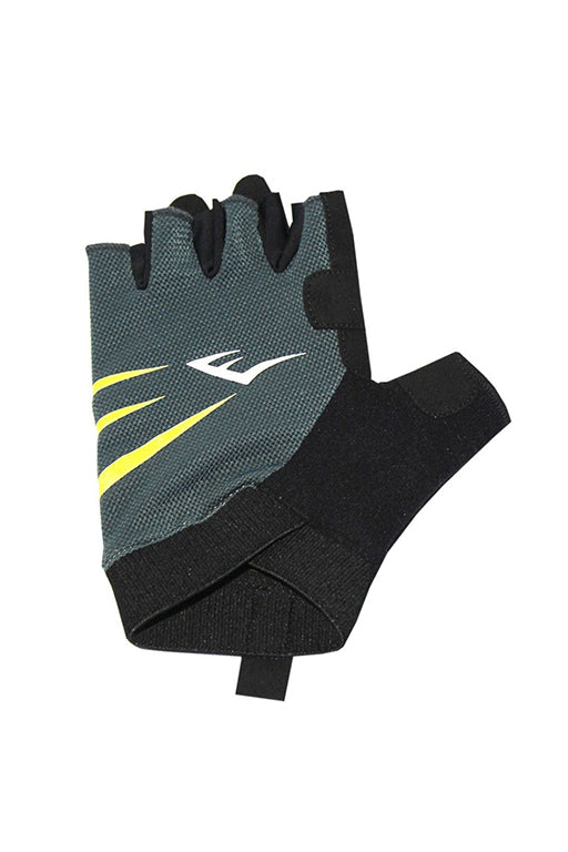 EVERLAST EDGE FITNESS GLOVES WITH FREE RUSSELL ATHLETIC 1L WATER BOTTLE <br> 140968GREY,- Jim Kidd Sports