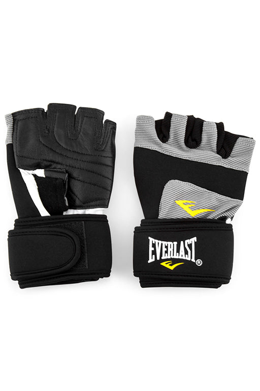 EVERLAST WEIGHT LIFTING GLOVES WITH FREE RUSSELL ATHLETIC 1L WATER BOTTLE <br> 140617,- Jim Kidd Sports
