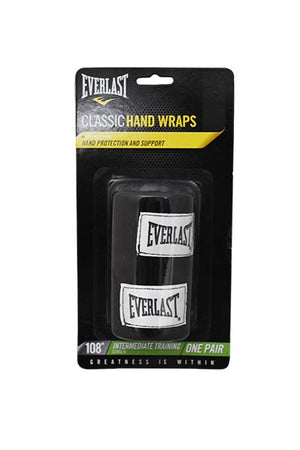 EVERLAST 108 INCH CLASSIC HAND WRAP BLACK