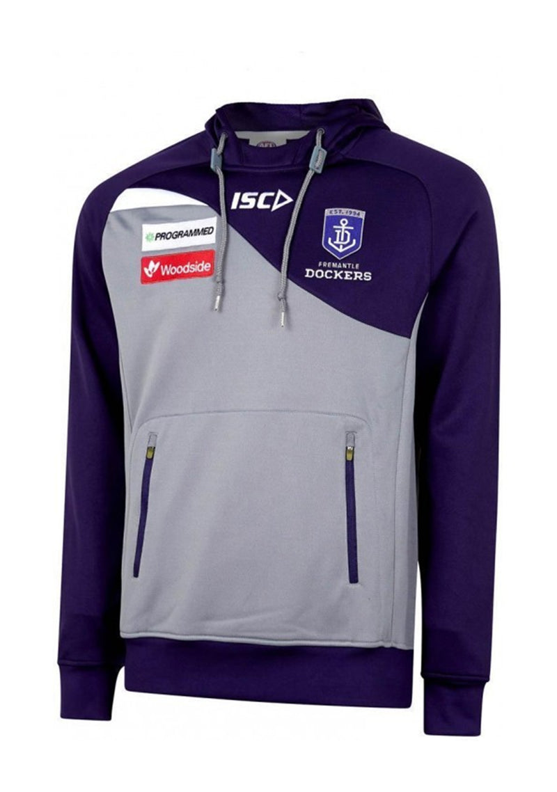 ISC MENS FREMANTLE DOCKERS 2019 SQUAD HOODY <BR> FD19HDY01M