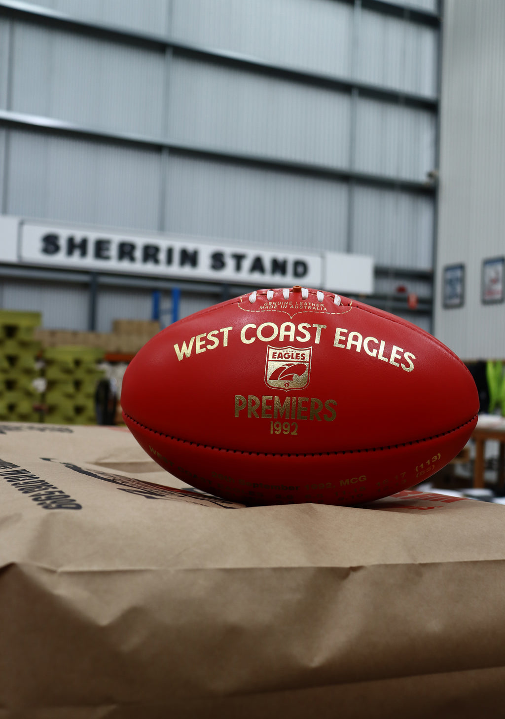 SHERRIN WEST COAST EAGLES 1992 PREMIERS BALL - LIMITED EDITION