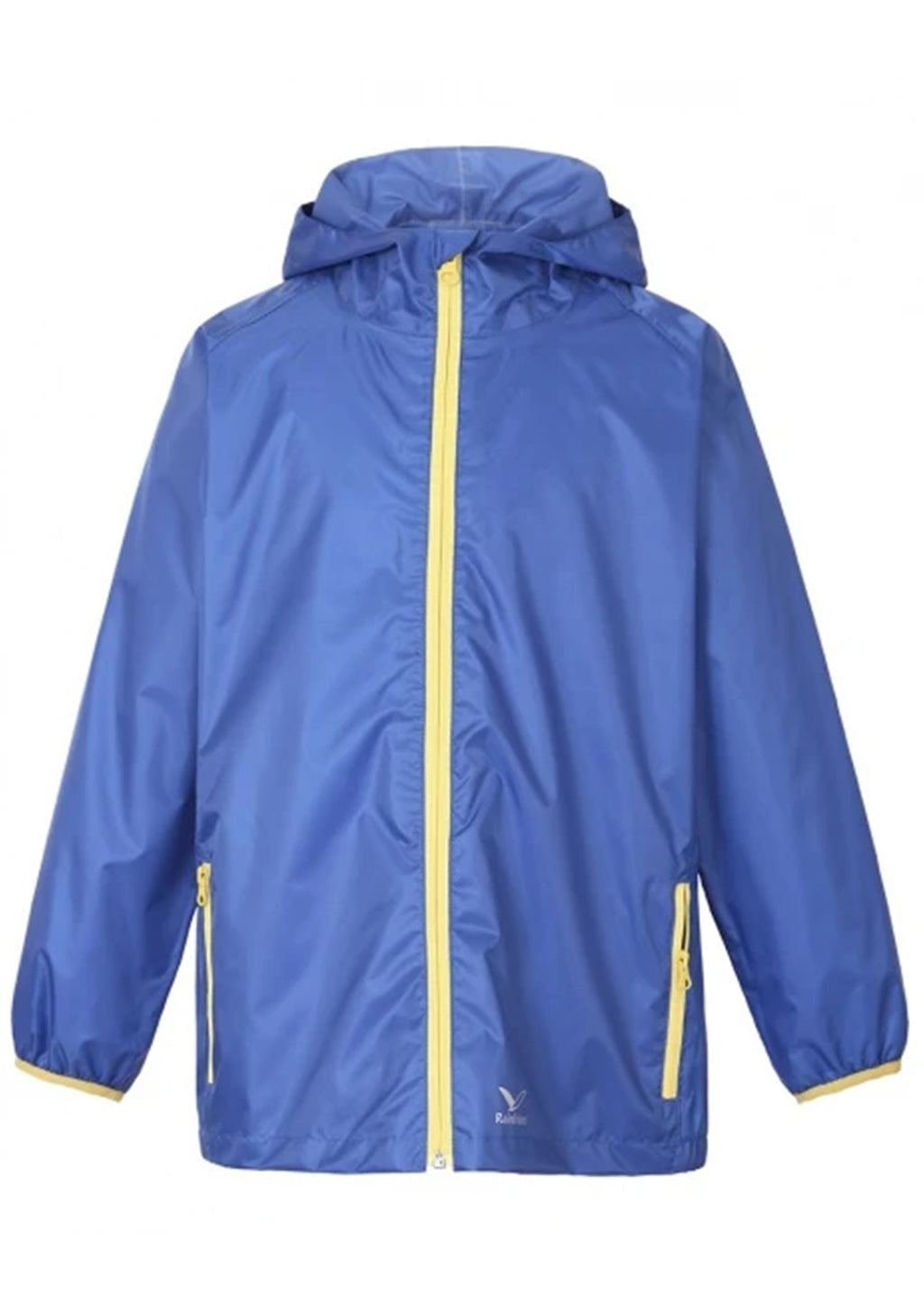 RAINBIRD UNISEX KIDS GOSTOW RAIN JACKET BLUE/YELLOW <BR> K8556