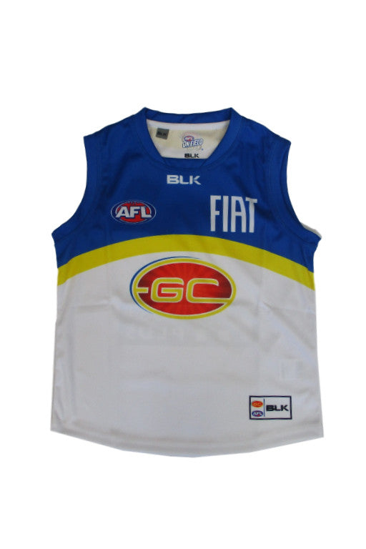 BLK GOLD COAST SUNS CLASH GUERNSEY JUNIOR <br> GSJR110WHT,- Jim Kidd Sports