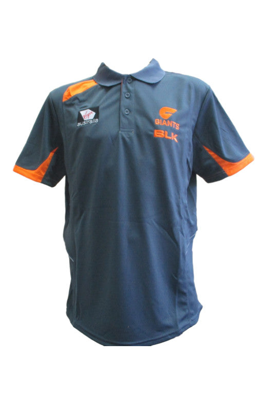 BLK GREATER WESTERN SYDNEY GIANTS TRAINING POLO MENS <br> GWPO100GNM,- Jim Kidd Sports
