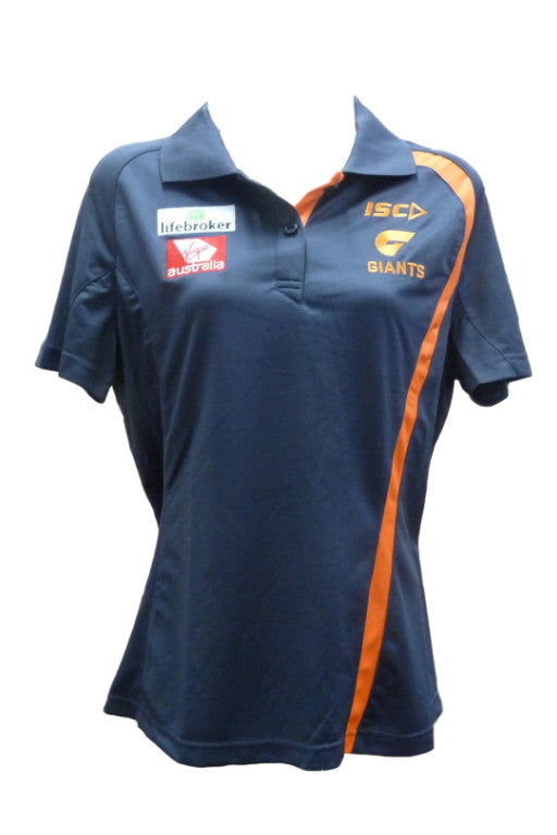 ISC GREATER WESTERN SYDNEY GIANTS PLAYERS POLO WOMENS <br> 7GW4POL1L,- Jim Kidd Sports