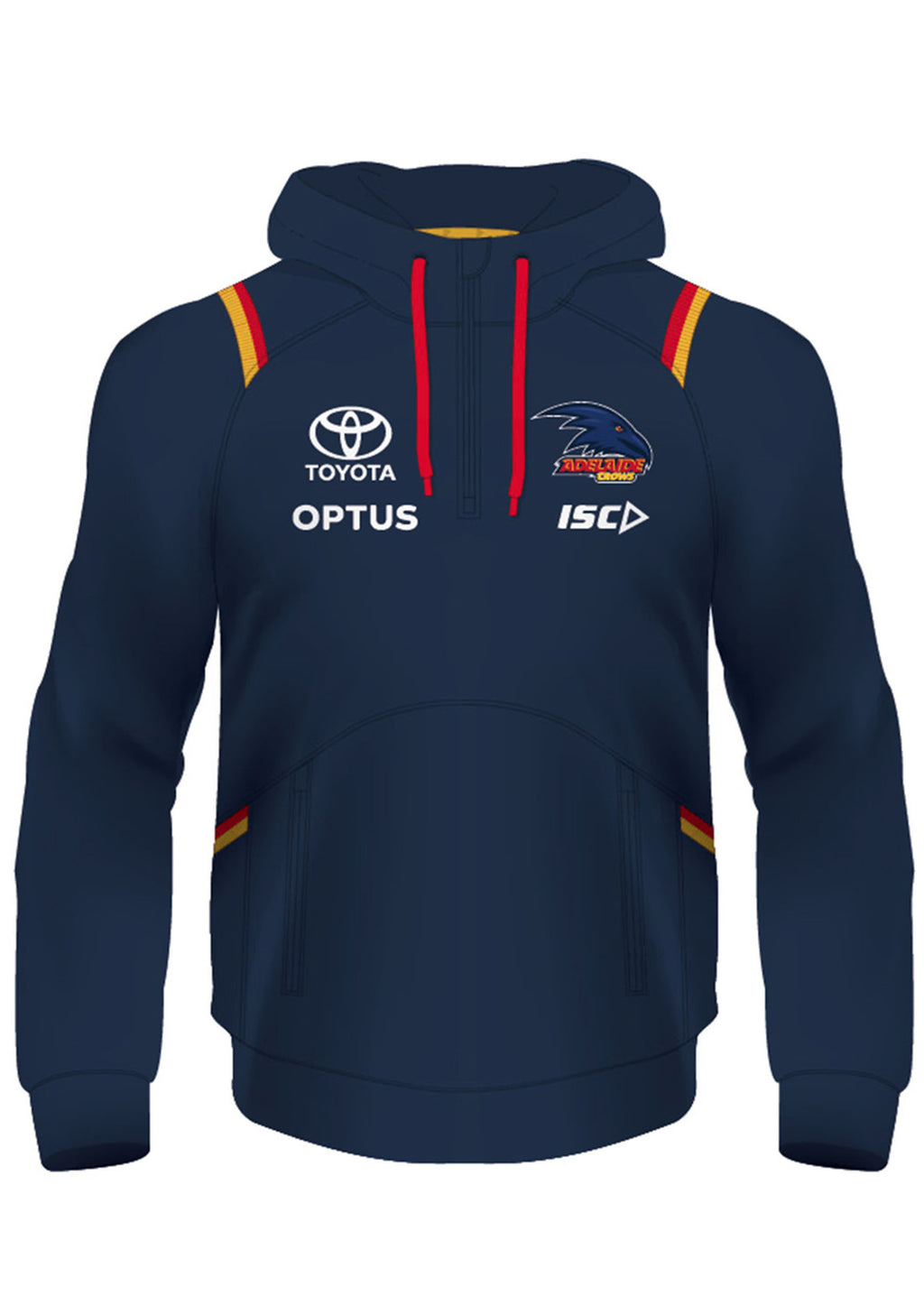 ISC ADELAIDE CROWS 2020 KIDS SQUAD HOODY <BR> AC20HDY01K