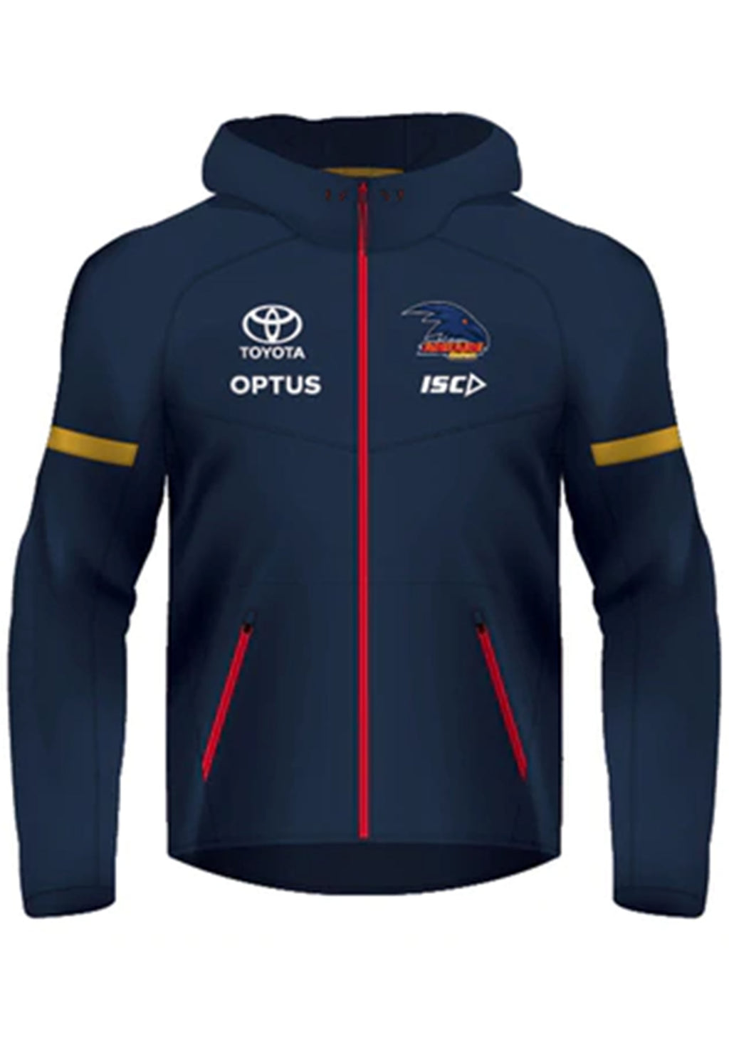 ISC ADELAIDE CROWS 2020 WOMENS TECH PRO HOODY <BR> AC20HDY02L