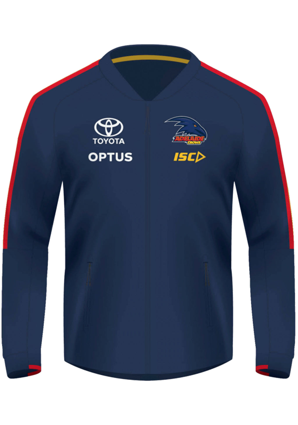 ISC ADELAIDE CROWS 2020 WOMENS TP MATCH JACKET <BR> AC20JKT02L