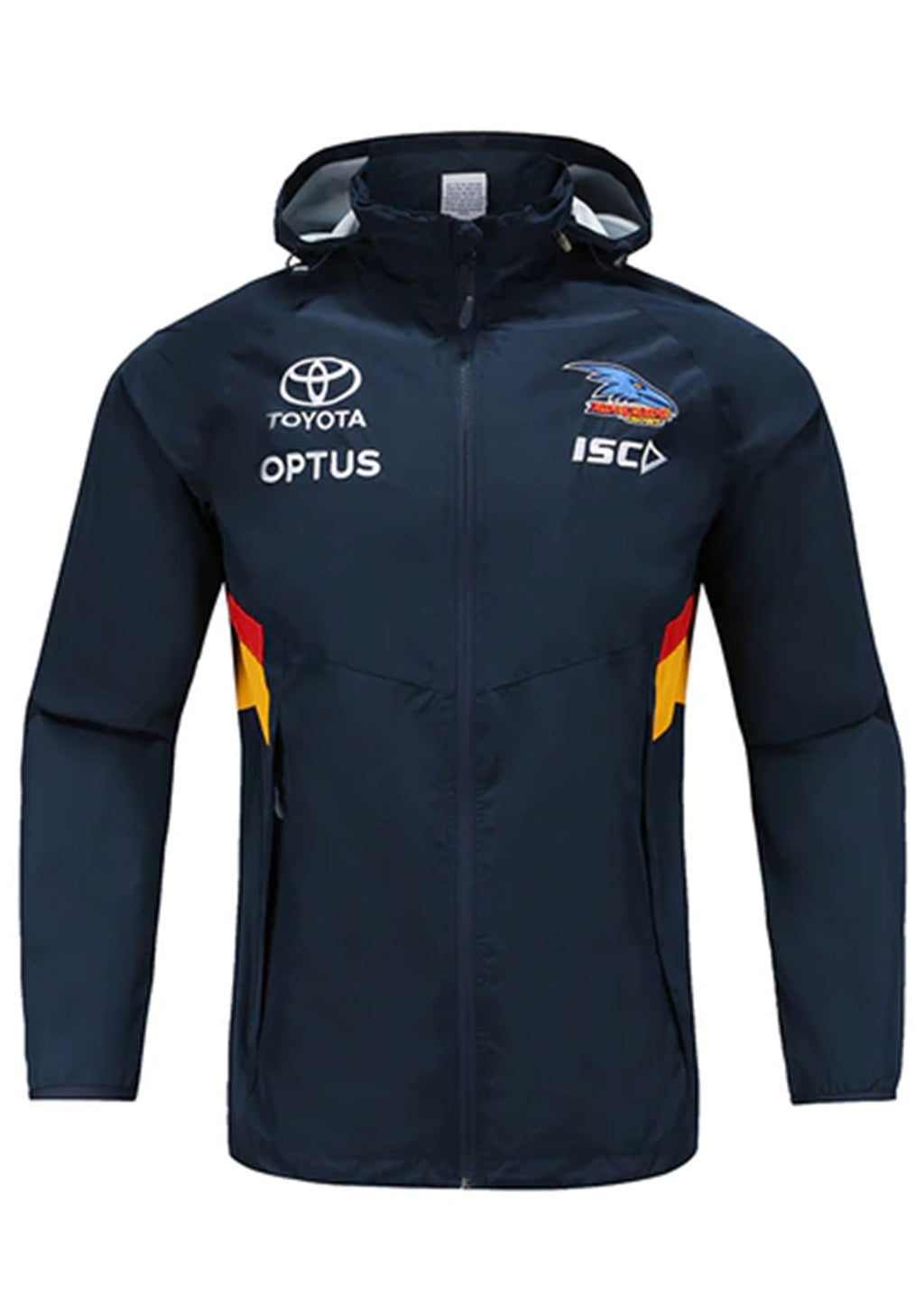 ISC ADELAIDE CROWS 2020 MENS WET WEATHER JACKET <BR> AC20JKT01M