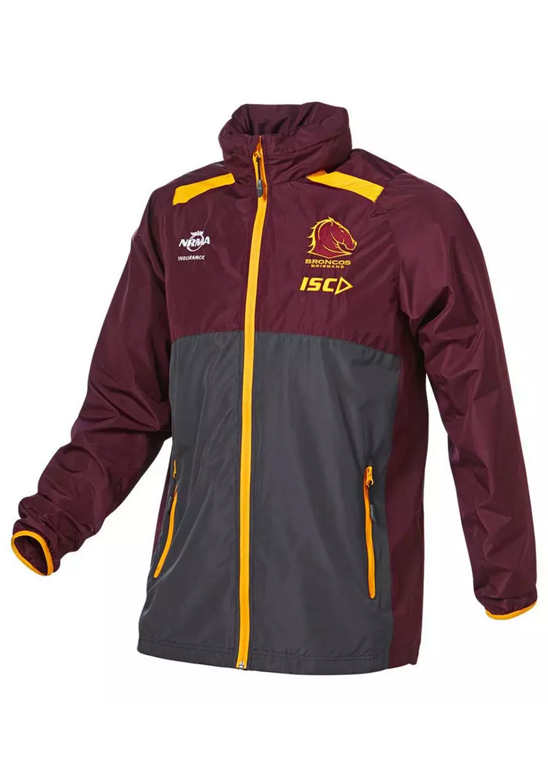 ISC BRISBANE BRONCOS 2019 NRL WET WEATHER JACKET WOMENS <br> BB19JKT02L