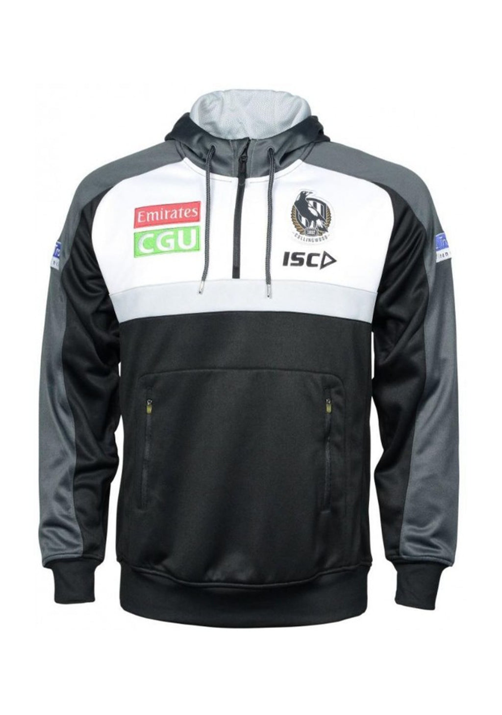 ISC COLLINGWOOD MAGPIES 2020 JUNIOR KIDS SQUAD HOODY <BR> CW20HDY01K