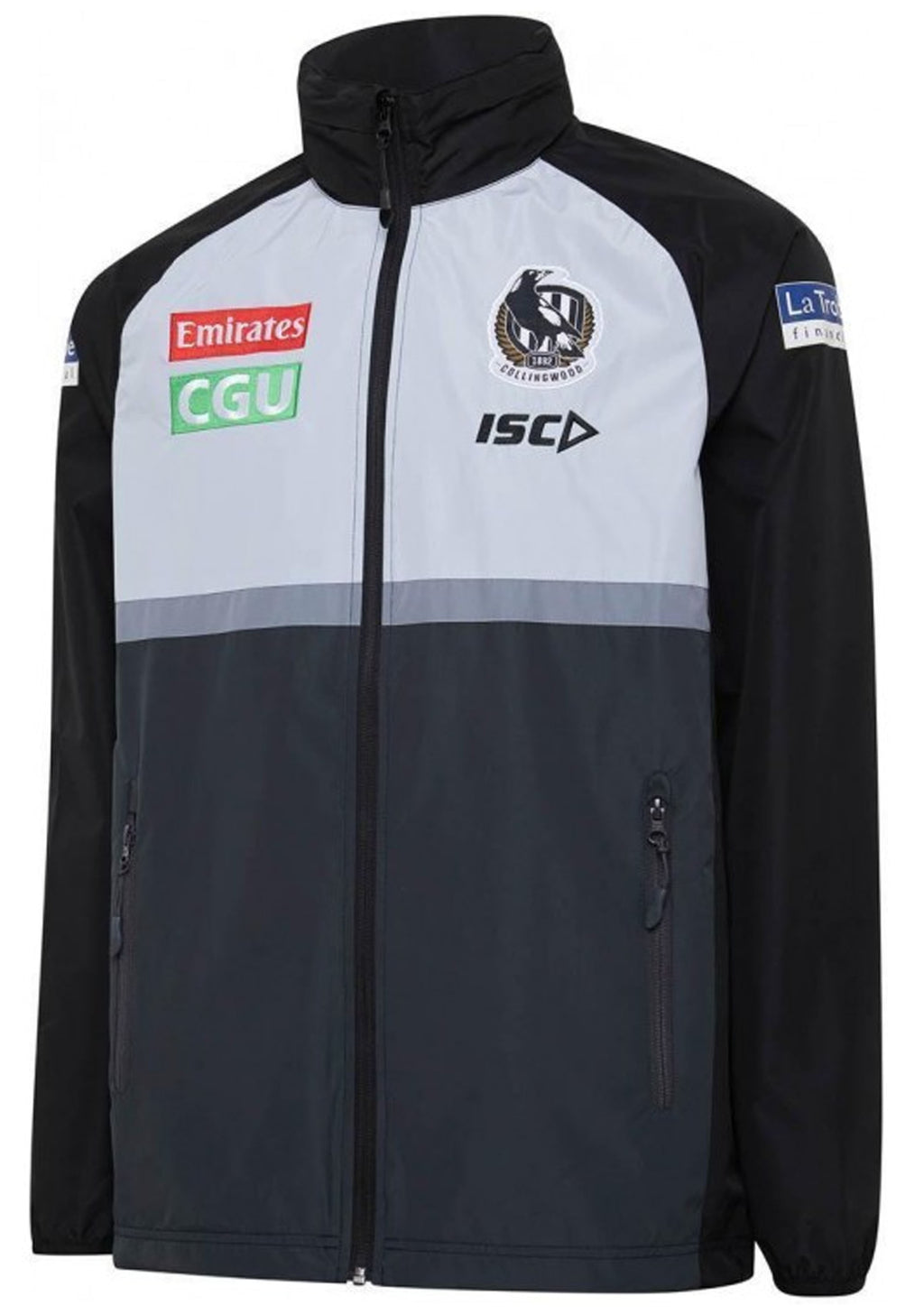 ISC COLLINGWOOD MAGPIES 2020 MENS WET WEATHER JACKET <BR> CW20JKT01M