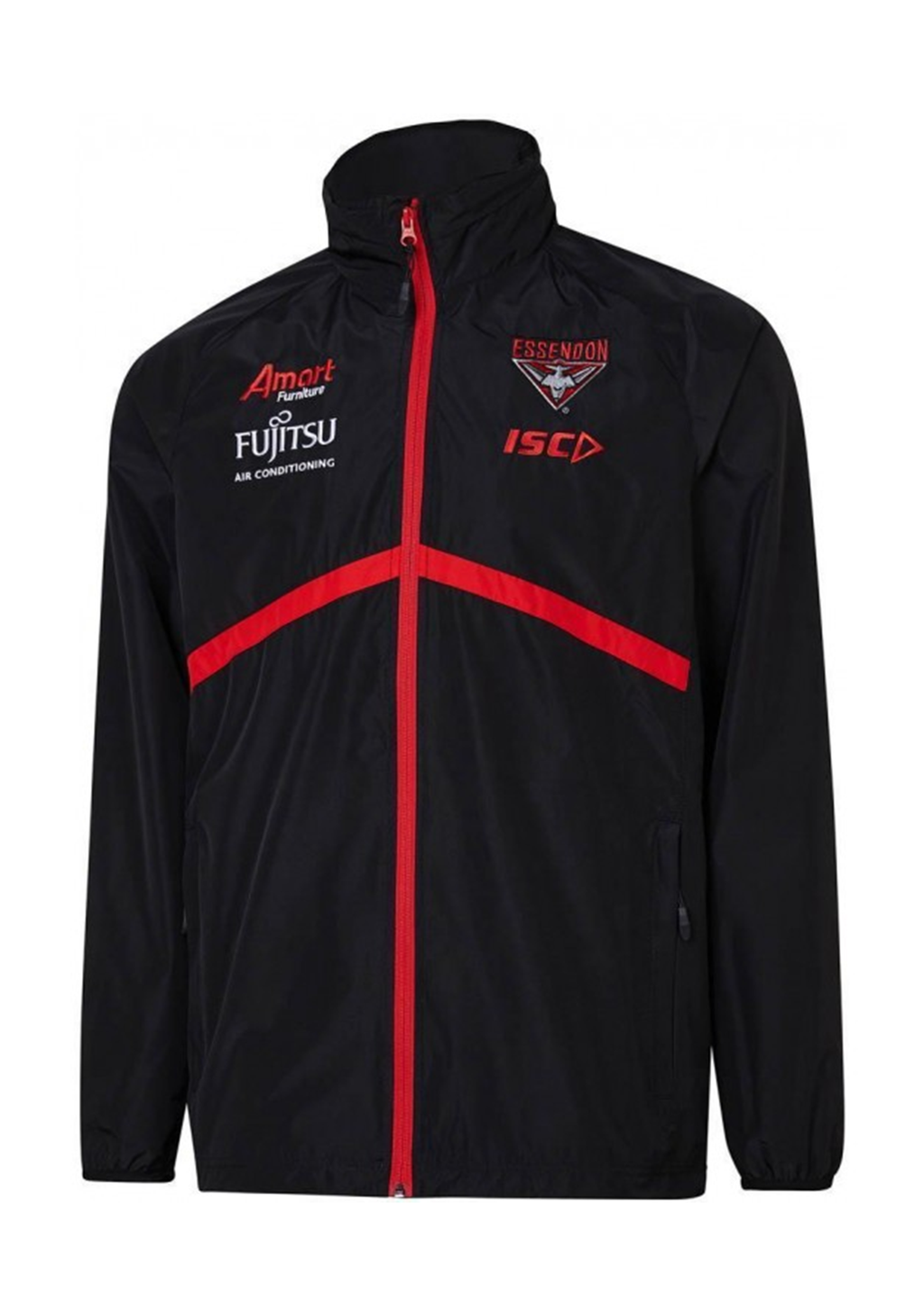 ISC ESSENDON BOMBERS AFL 2019 WET WEATHER JACKET WOMENS <br> EB19JKT01L