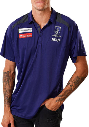ISC FREMANTLE DOCKERS 2020 MENS MEDIA POLO <BR> FD20POL01M