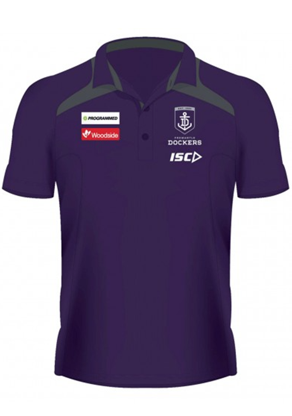ISC WOMENS FREMANTLE DOCKERS MEDIA POLO 2020 <br> FD20POL01L