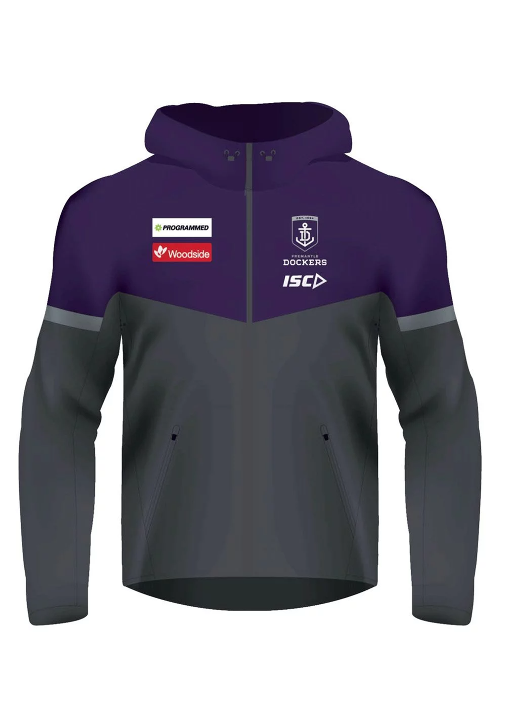 ISC MENS FREMANTLE DOCKERS TECH PRO HOODIE 2020 <br> FD20HDY02M