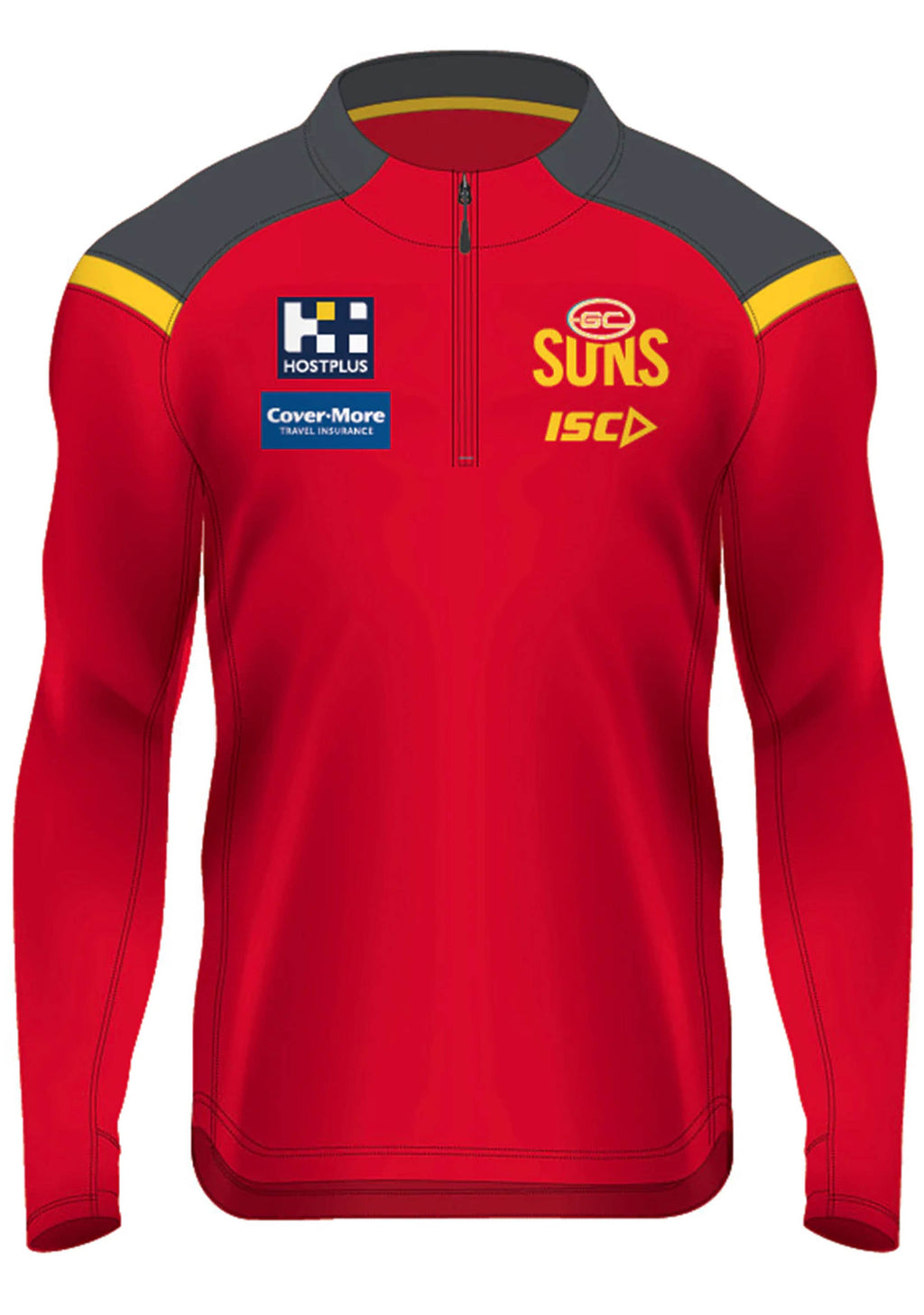 ISC MENS GOLD COAST SUNS 2020 ELITE TRAINING TOP <BR> GS20TOP01M