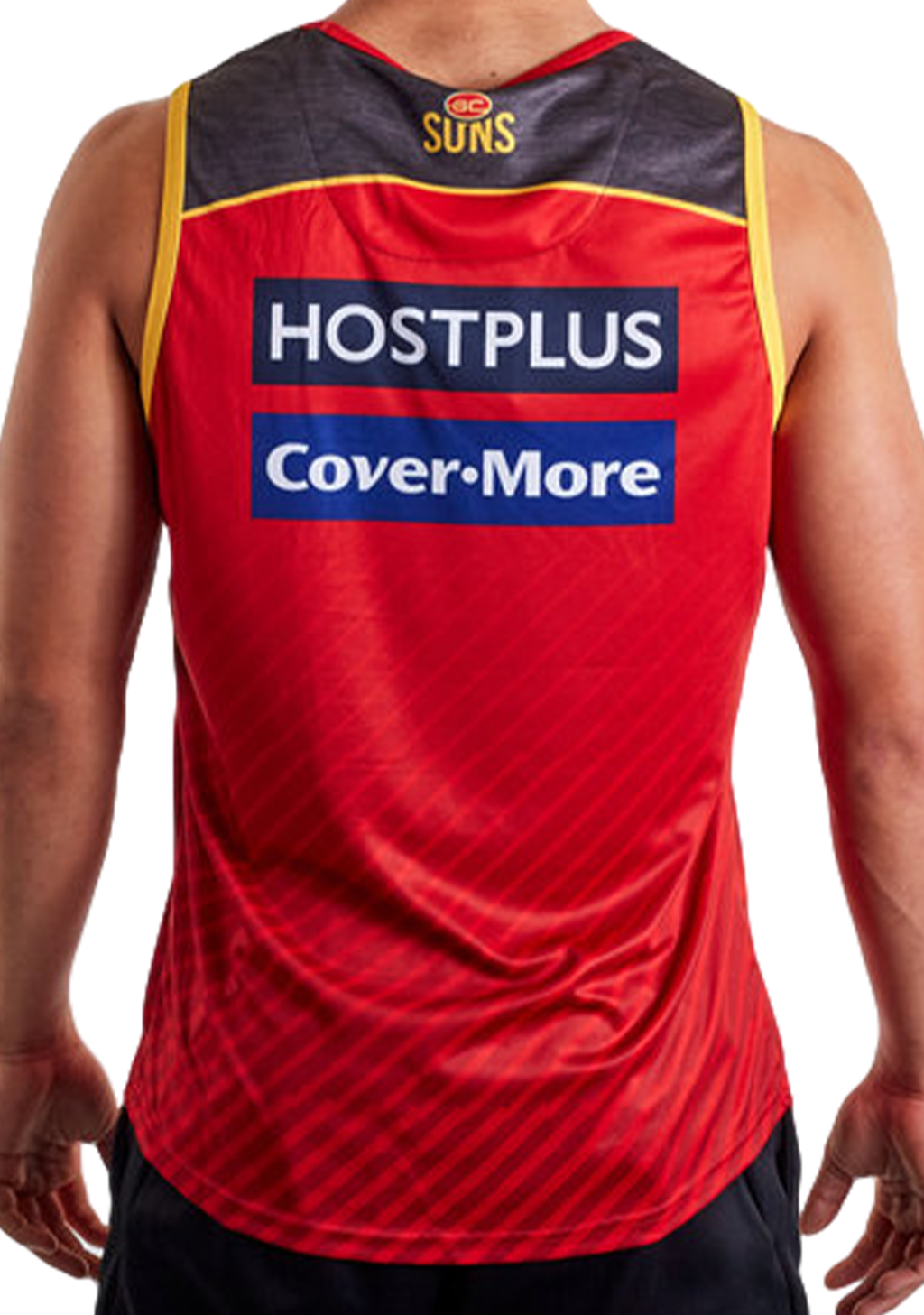 ISC MENS GOLD COAST SUNS 2020 SUB TRAINING SINGLET <BR> GS20SGT01M