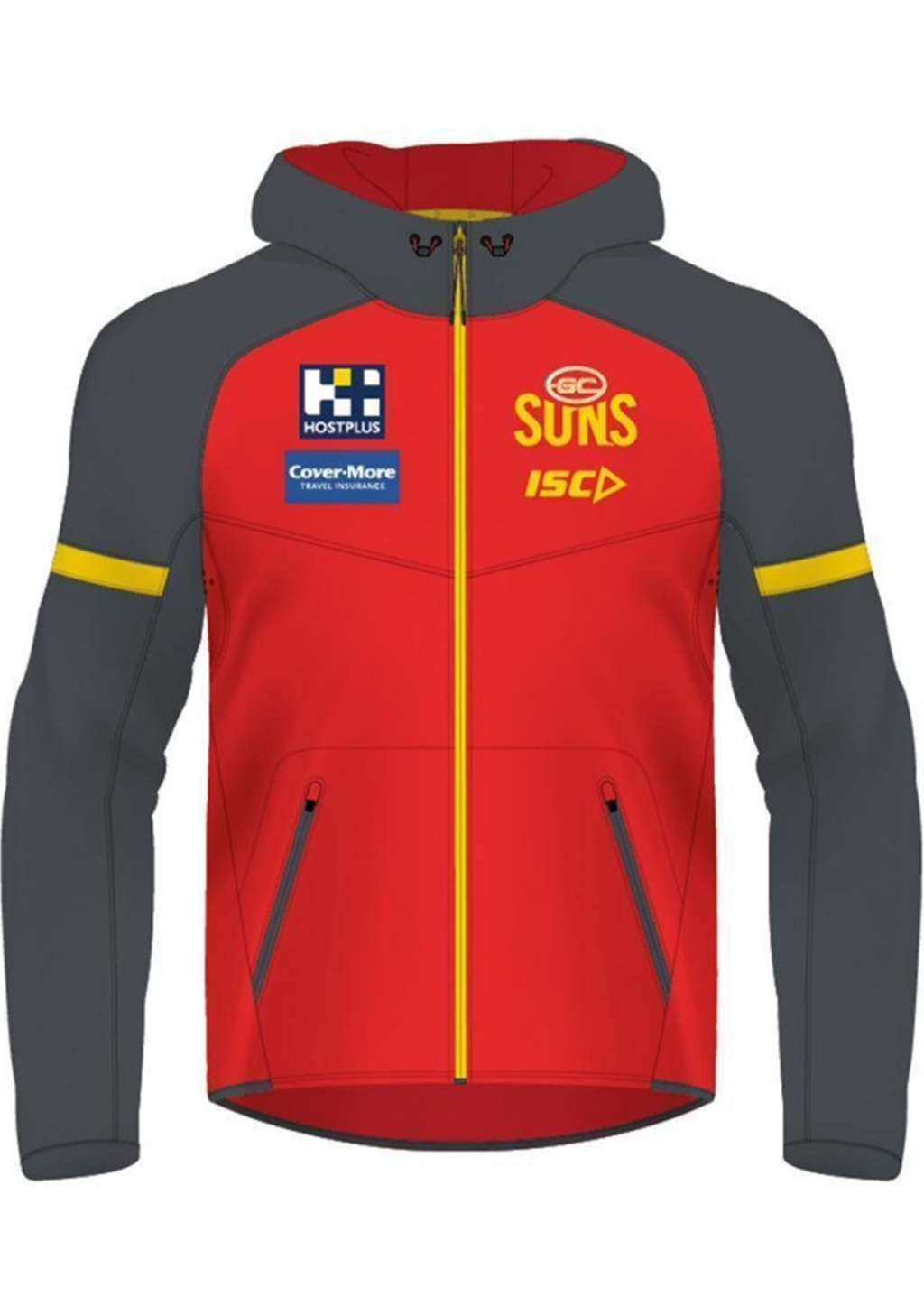 ISC MENS GOLD COAST SUNS 2020 TECH PRO HOODIE <BR> GS20HDY01M