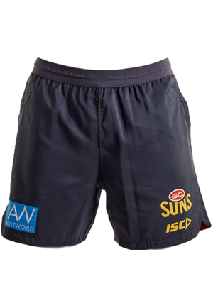 ISC MENS GOLD COAST SUNS 2020 TRAINING SHORTS <BR> GS20SHO04M