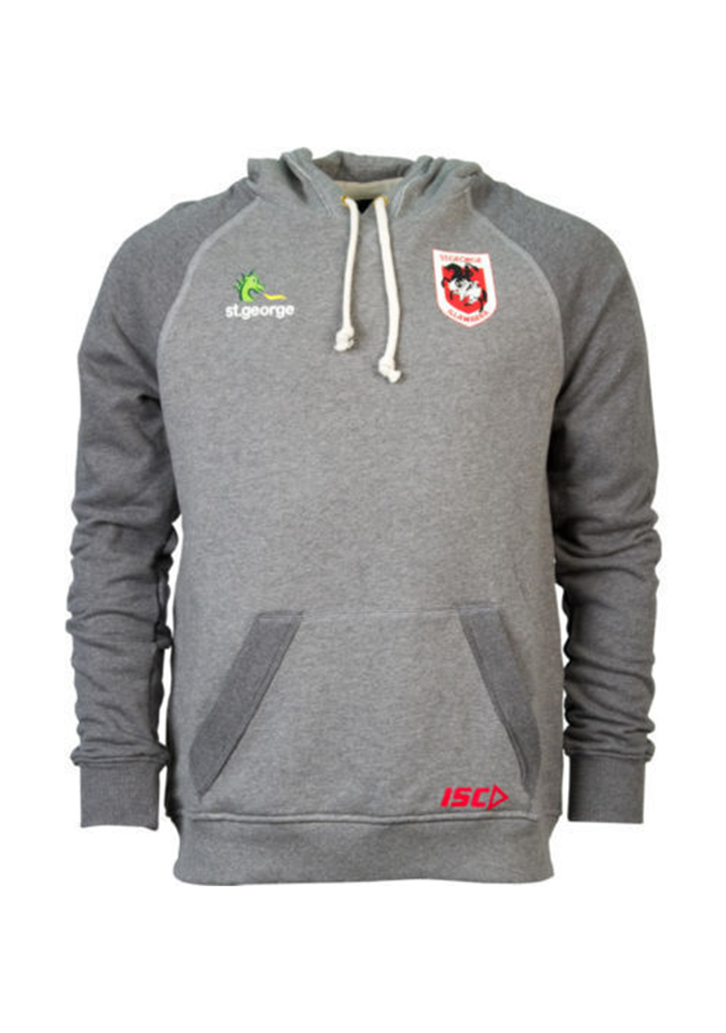 ISC ST GEORGE ILLAWARRA DRAGONS 2017 NRL FLEECE HOODIE MENS <br> SG16HDL1A