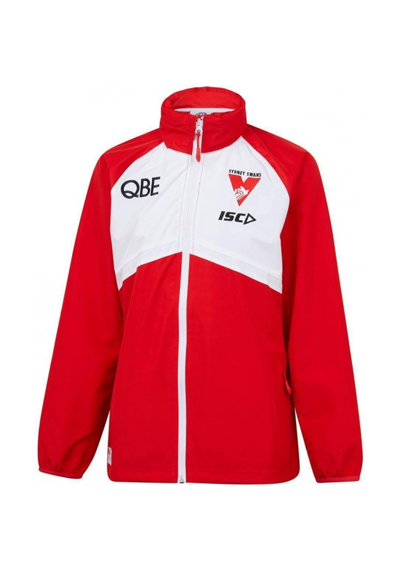 ISC SYDNEY SWANS 2019 WET WEATHER JACKET WOMENS <br>  SW19JKT01L