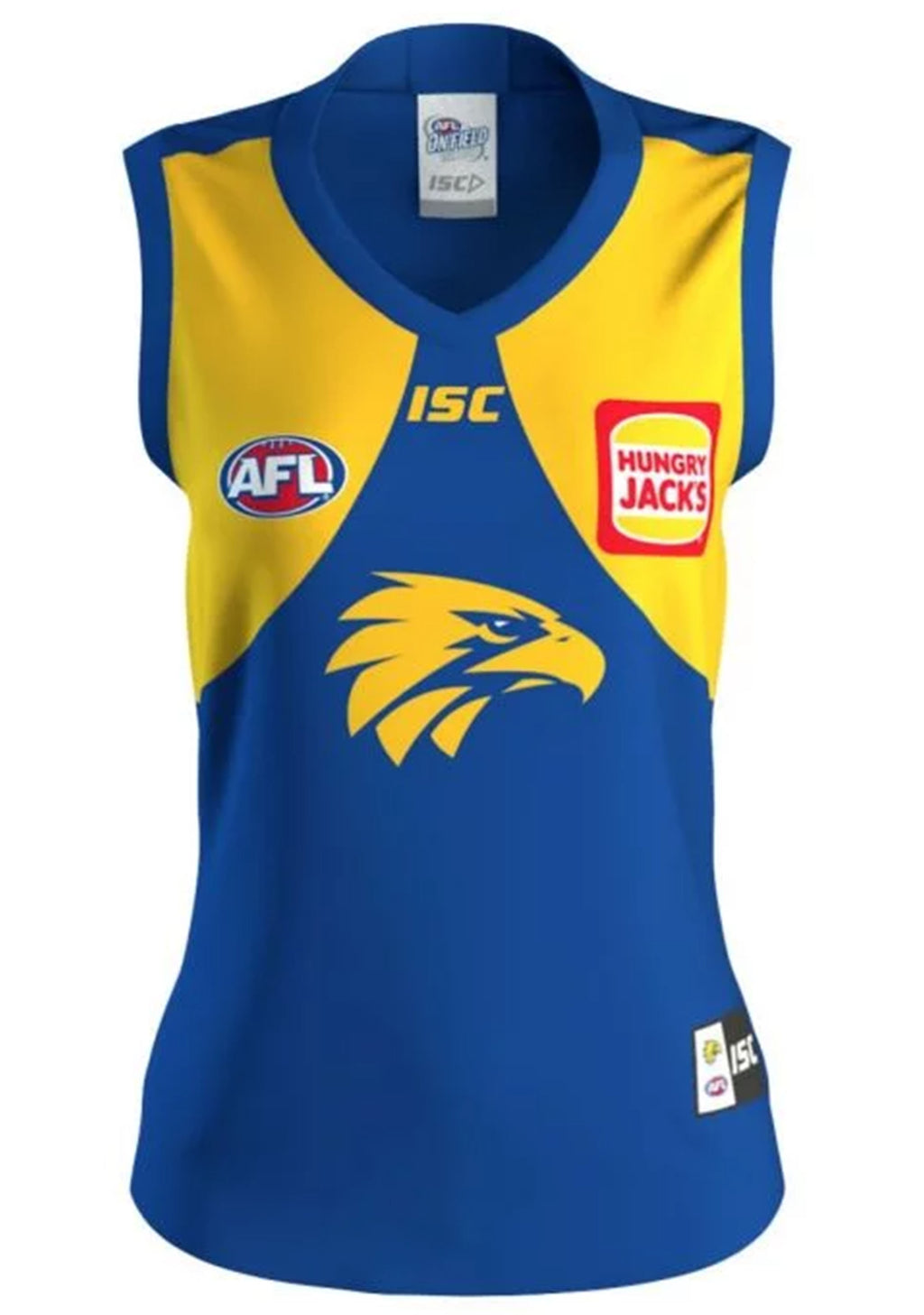 ISC WEST COAST EAGLES 2020 WOMENS HOME GUERNSEY <BR> WC20JSY01L