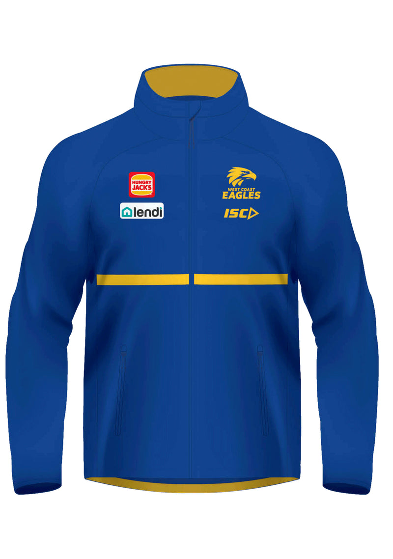 ISC WOMENS WEST COAST EAGLES 2020 WET WEATHER JACKET <BR> WC20JKT01L