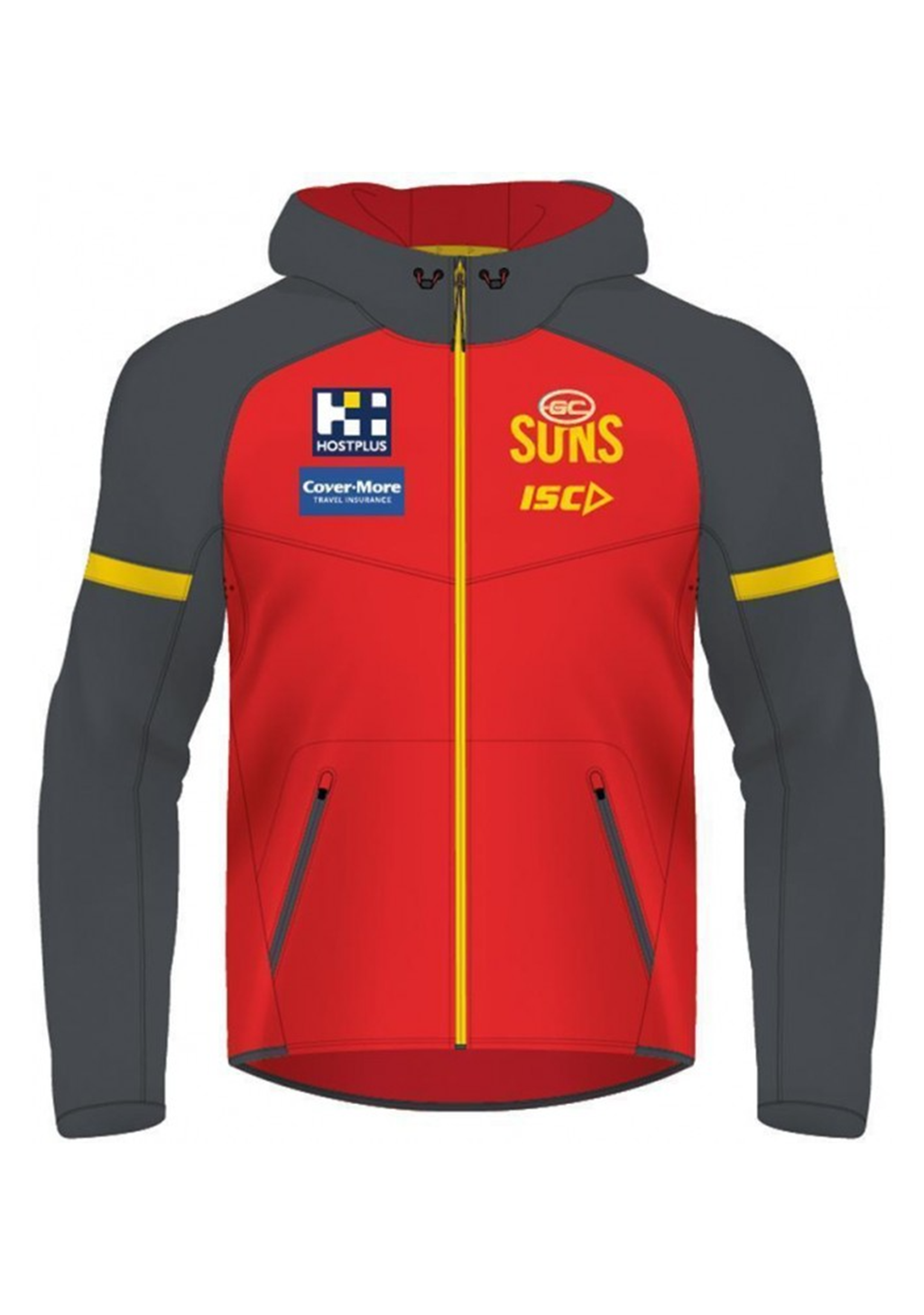 ISC WOMENS GOLD COAST SUNS 2020 TECH PRO HOODY <BR> GS20HDY01L