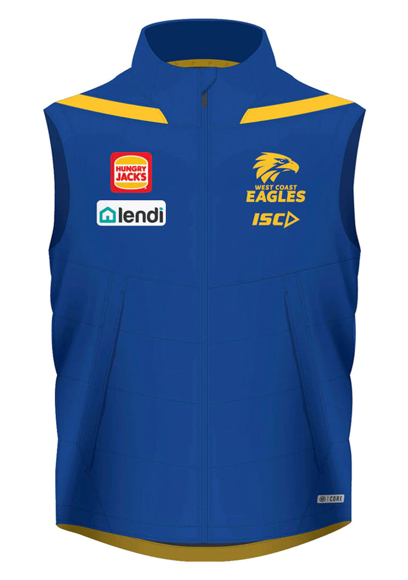 ISC WEST COAST EAGLES 2020 WOMENS PADDED VEST <BR> WC20VST01L