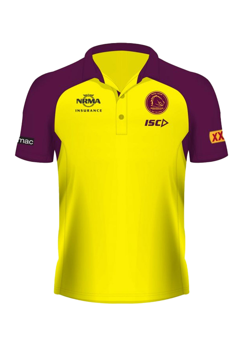 ISC BRISBANE BRONCOS 2018 MENS POLO <BR> BB18POL01M