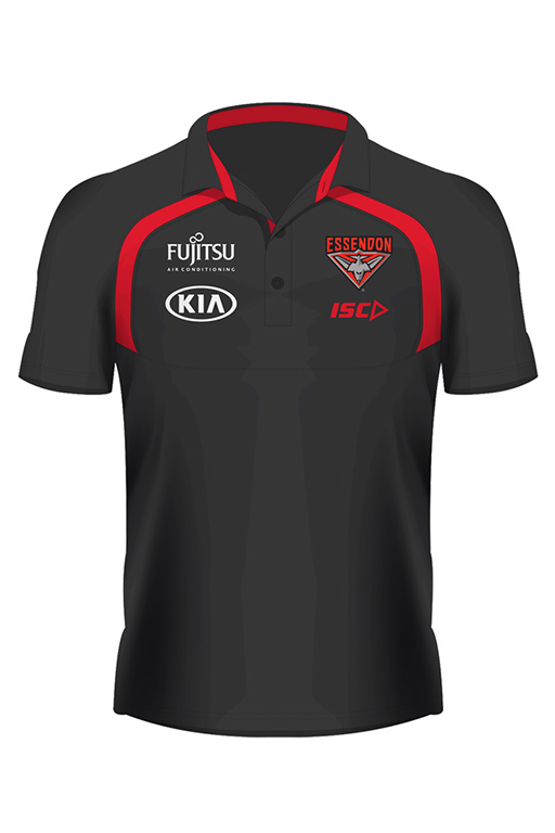 ISC ESSENDON BOMBERS 2018 PERFORMANCE POLO WOMENS <br> EB18POL03L,- Jim Kidd Sports