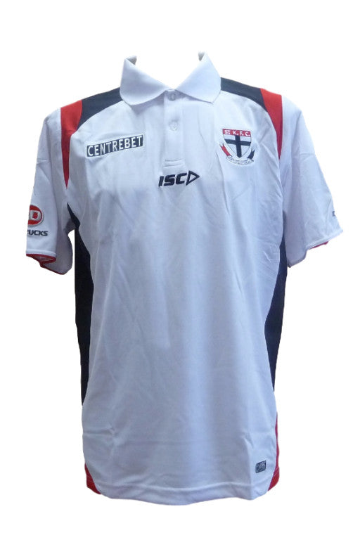 ISC ST KILDA SAINTS MEDIA POLO MENS <br> 7SK2POL1A,- Jim Kidd Sports