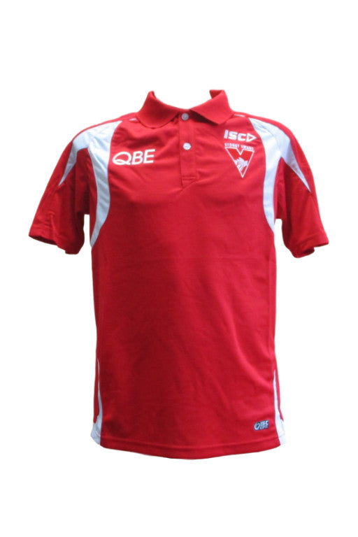 ISC SYDNEY SWANS POLY POLO MENS <br> 7SW4POL1A,- Jim Kidd Sports