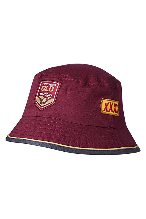 ISC STATE OF ORIGIN QUEENSLAND MAROONS BUCKET HAT ADULTS <br> QM18HAT05M