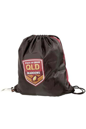 ISC STATE OF ORIGIN QUEENSLAND MAROONS DRAWSTRING BAG <br> QM18BAG04