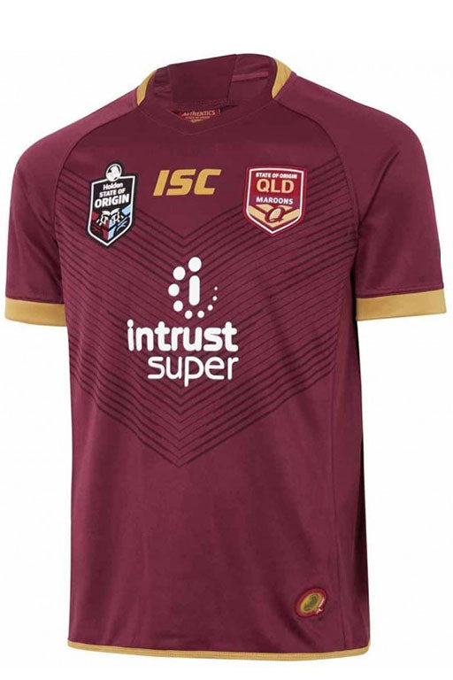 ISC STATE OF ORIGIN QUEENSLAND MAROONS MENS JERSEY <br> QM18JSY01M