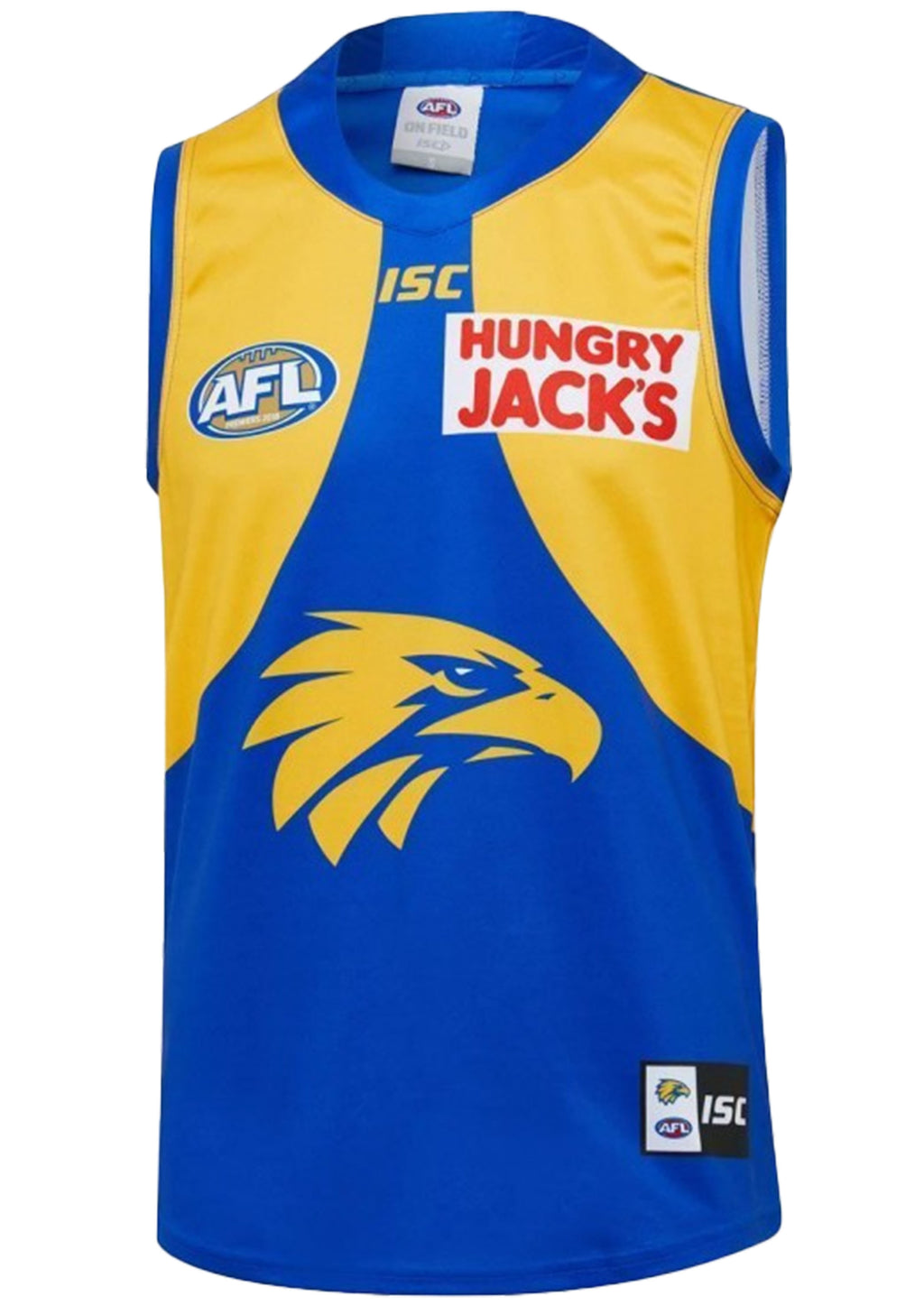 ISC WEST COAST EAGLES 2019 MENS HOME GUERNSEY <BR> WC19JSY06M