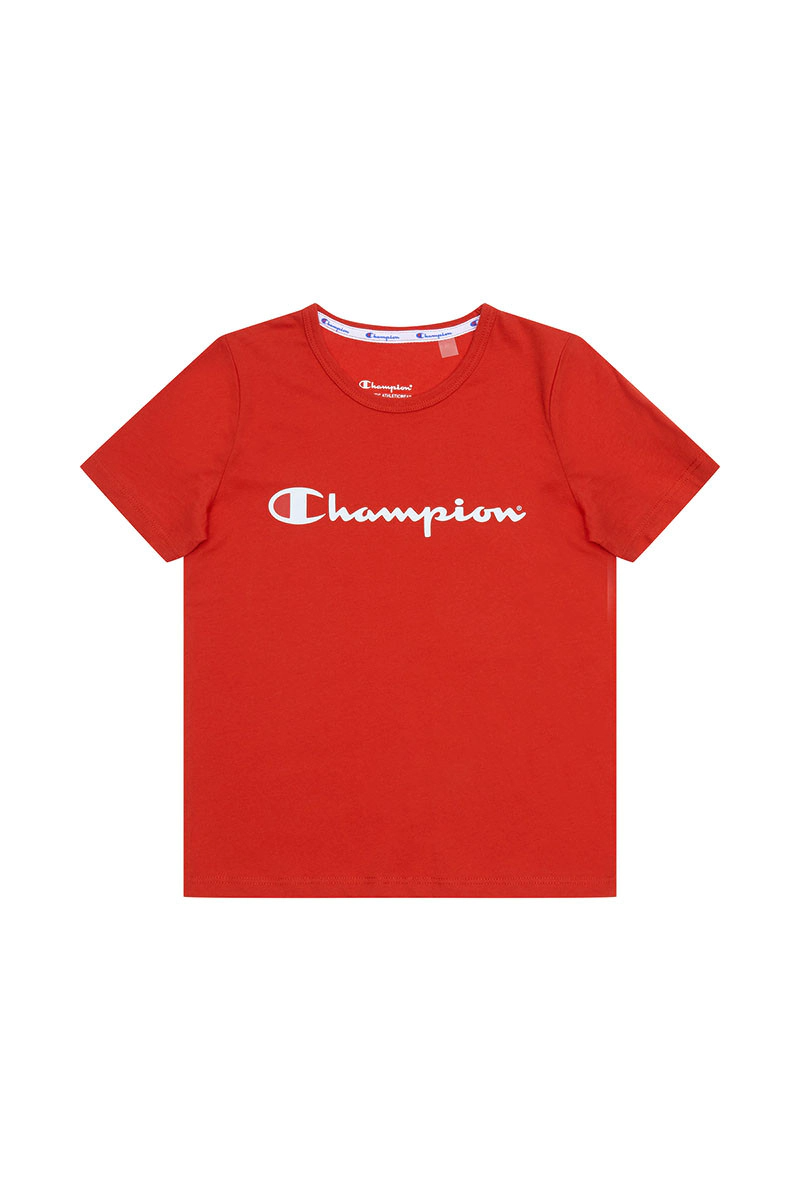 CHAMPION JUNIOR SCRIPT SHORT SLEEVE TEE <br> KXA8N QOH