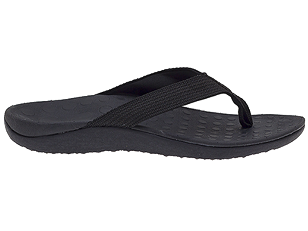 LORELLA MENS SURF ORTHOTIC THONG BLACK