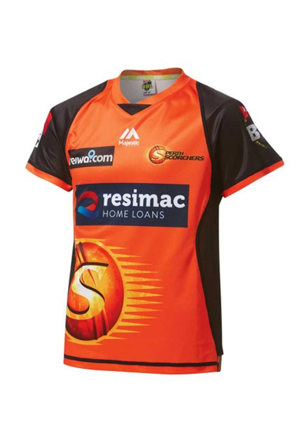 MAJESTIC ATHLETIC PERTH SCORCHERS JUNIOR REPLICA JERSEY <BR> MPT6426OP