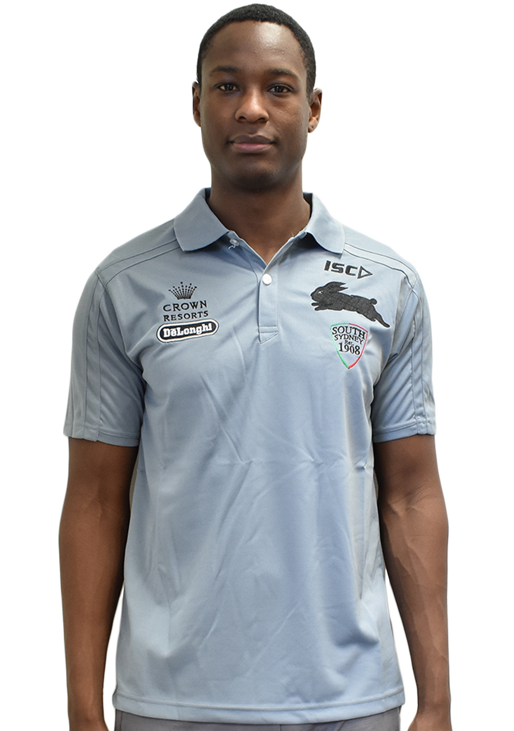 ISC SOUTH SYDNEY RABBITOHS MENS SOUTHS POLO SHIRT <BR> 7SS4POL1A