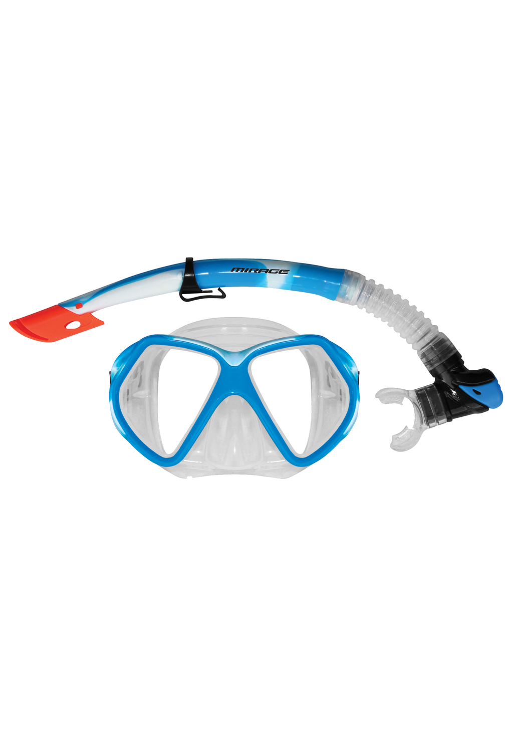 MIRAGE ADULT FUSION SILICONE MASK AND SNORKEL SET <BR> SET-32