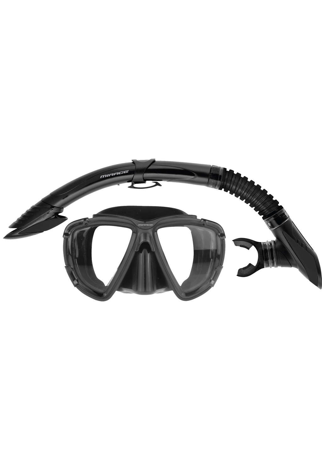 MIRAGE ADULT PLATINUM MASK AND SNORKEL SET <BR> SET-09