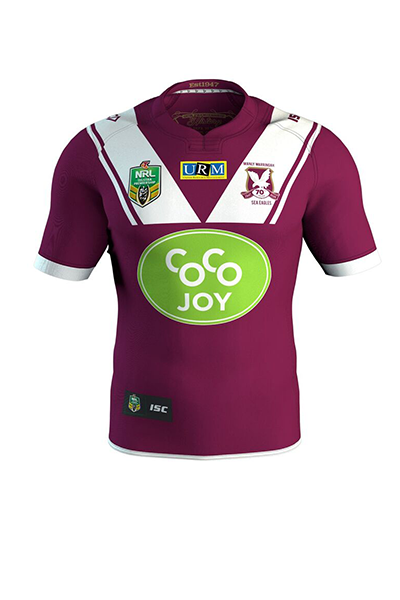 ISC MANLY WARRINGAH SEA HOME JERSEY MENS <br> MW16HJS1A,- Jim Kidd Sports