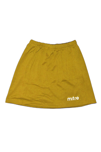 MITRE NETBALL SKIRT GOLD<br> MT7150