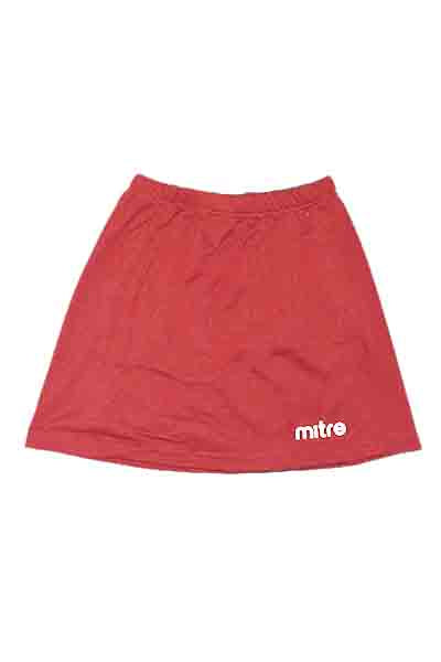 MITRE NETBALL SKIRT RED <br> MT7150